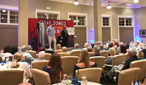 Magician in Bonita Springs Cesar Domico. Comedy Magic shows Country Clubs, Fundraising Events