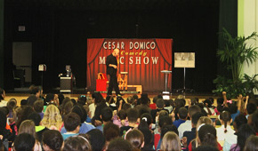 Magician Hollywood FL Cesar Domico. Magician Schools, fundraiser events